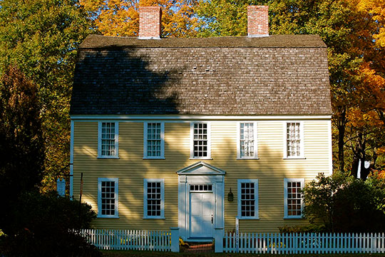 Holyoke French House, ca. 1760, Elm Street, Boxford, MA, National Register
