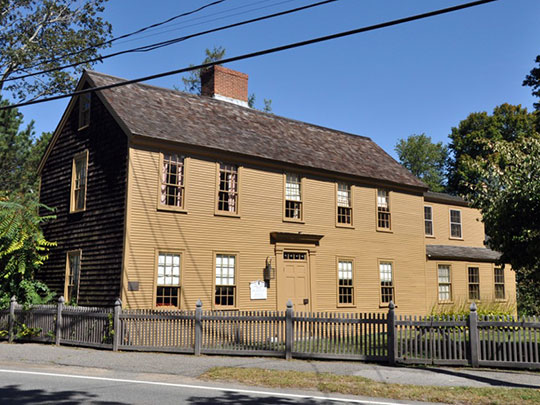 Adams-Clarke House, ca. 1725, 93 West Main Street, Georgetown, MA, National Register