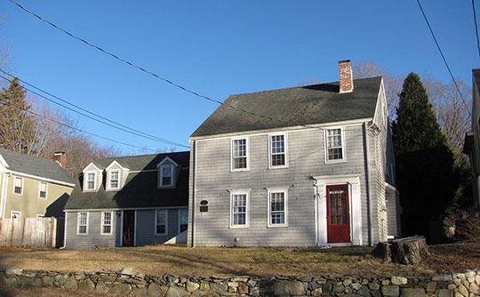 George Hopkinson House, ca. 1716, 362 Main Street, Groveland, MA, National Register