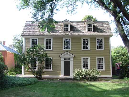 Crowninshield-Bentley House, ca. 1727, located in the Essex Institute Historic District, Salem, MA, National Register