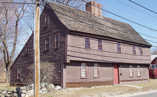 Boardman House, ca. 1692, 17 Howard Street, Saugus, MA, National Historic Landmark