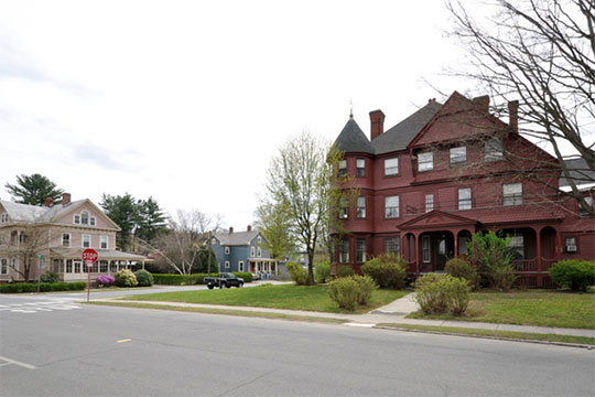 Period houses, East Main-High Street Historic District, Greenfield, MA, National Register
