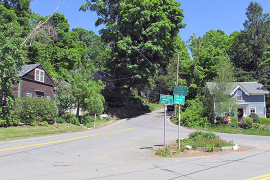 Intersection of Shutesbury and Cushman Roads, East Leverett Historic District, Leverett, MA