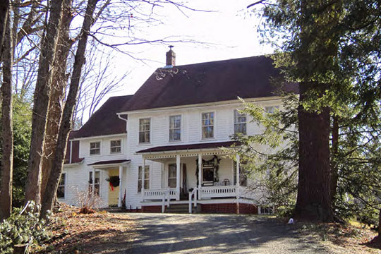 Julian & Martha Miller House, ca. 1901, 167 Shutesbury Road, East Leverett Historic District, Leverett, MA, National Register