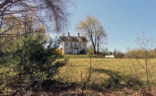 John and Lottie Watson House, ca. 1880, 17 Dudleyville Road, Moore's Corner Historic District, Leverett, MA, National Register