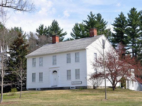 Whitaker-Clary House, ca. 1816, Elm Street, New Salem, MA, National Register.