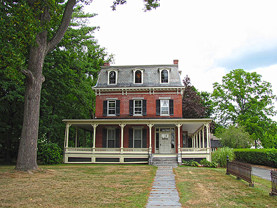 Conkey-Stevens House, ca. 1840, 664 Main Street, Amherst, MA, National Register