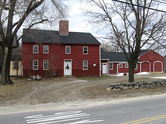 Hildreth-Robbins House (Red Wing Farm), ca. 1742, 19 Maple Road, Chelmsford, MA, National Register