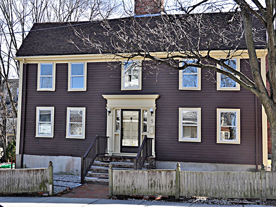 Edward Oakes House, ca. 1728, 5 Sylvia Road, Medford, MA, National Register