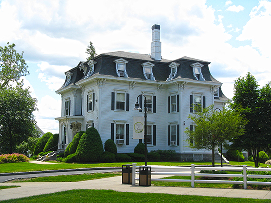 Ray Mansion (Dean College Admissions Office), ca. 1870, 89 West Central Street, Franklin, MA, National Register