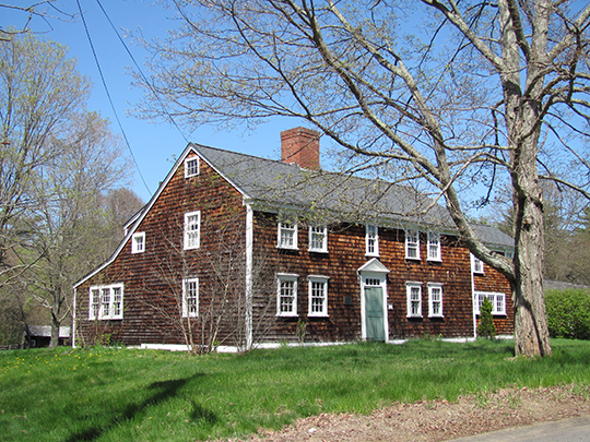 Warelands (Ebenezer Ware House), ca. 1733, 103 Boardman Street, Norfolk, MA, National Register