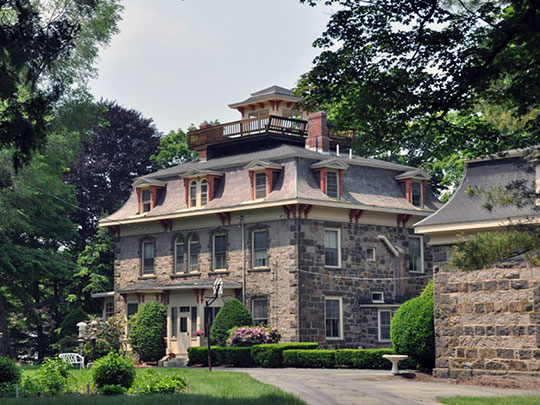Stoneholm, ca. 1864, 188 Ames Street, Sharon, MA, National Register