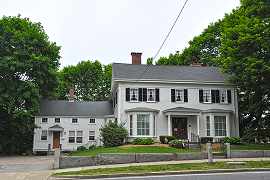 Deacon Willard Lewis House, ca. 1826, 33 West Street, Walpole, MA, National Register