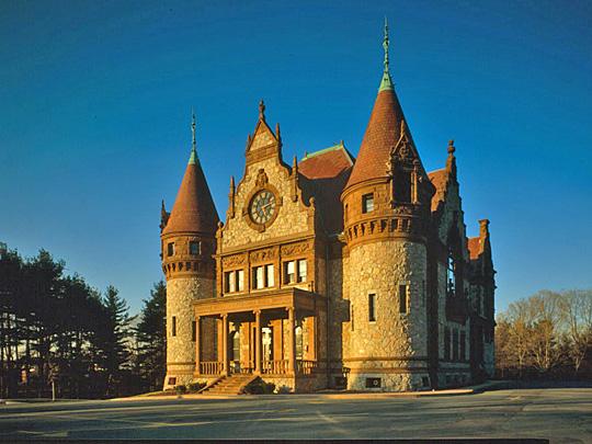 Wellesley Town Hall, ca. 1883, 525 Washington Street, Wellesley, MA, National Register