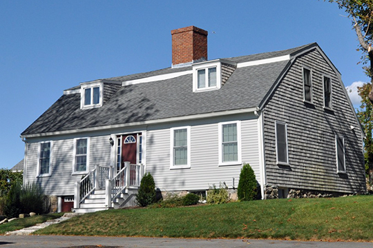 Clifford-Warren House, ca. 1695, 3 Clifford Road, Plymouth, MA, National Register