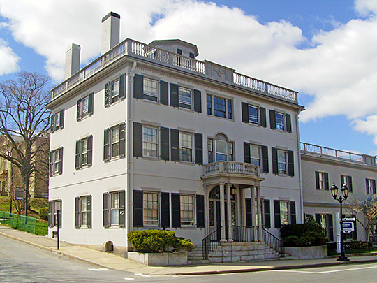 The Bartlett-Russell-Hedge House, ca. 1803, 2 Court Street, Plymouth, Massachusetts, National Register