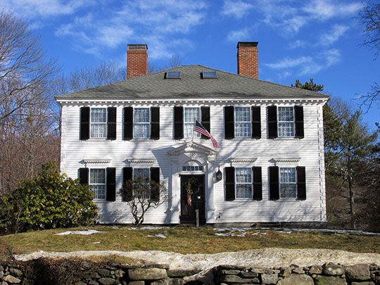 First Minister's House, ca. 1792, 186 Elm Street, Gardner, MA, National Register