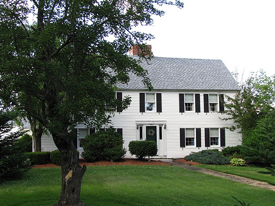 Hudson House, ca. 1720, Hudson Road, Oxford, MA, National Register