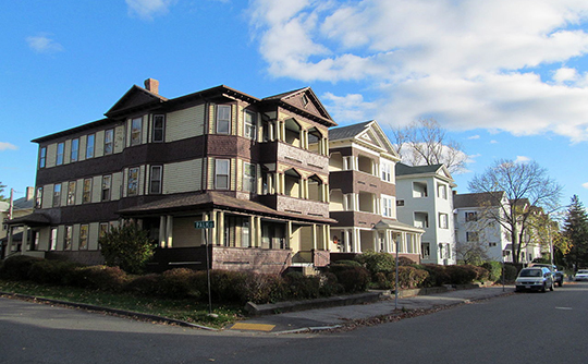 Homes at Palm and Houghton, Houghton Street Historic District, Worcester, MA., National Register