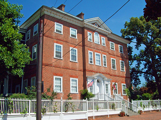 Chase-Lloyd House, ca. 1769, 22 Maryland Avenue, Annapolis, MD, National Register
