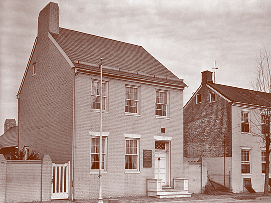 Roger Brooke Taney House, 121 South Bentz Street, Frederick, MD,