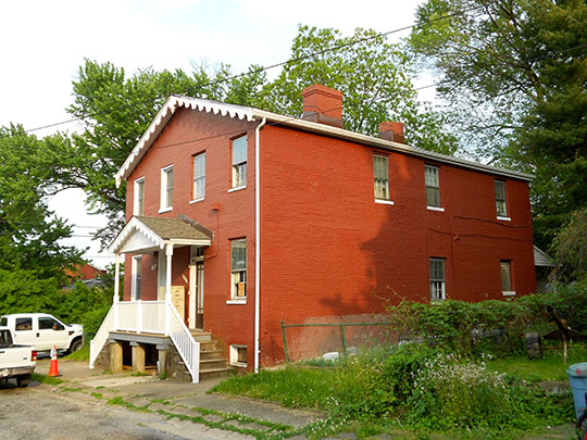 Residential duplex in Brick Hill, Baltimore, MD, National Register