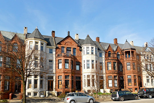 Homes in the Reservoir Hill Historic District, Baltimore, MD, National Register