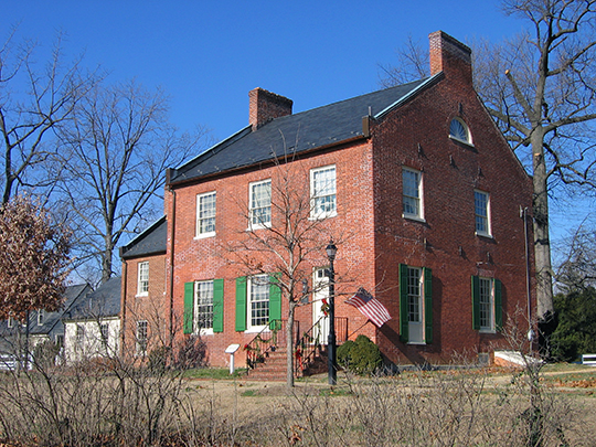 Beall-Dawson House, ca. 1815, 103 West Montgomery Avenue, Rockville, MD.