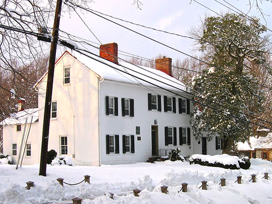 Madison House, Caleb and Sarah Brooke Bentley, 205 Market Street, Brookeville, MD.
