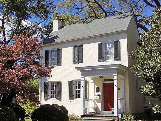Bingham-Brewer House, ca. 1821, 207 Great Falls Road, Rockville, MD.