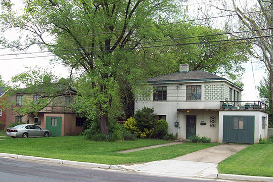 Homes in the Polychrome Historic District, ca. 1934, Silver Spring, MD, National Register