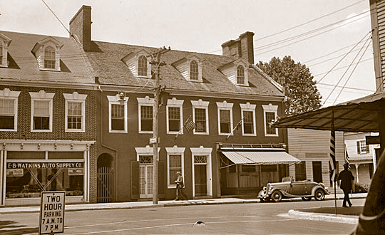 Brick Row Houses on North Washington Street, Easton, Photographed in May, 1936
