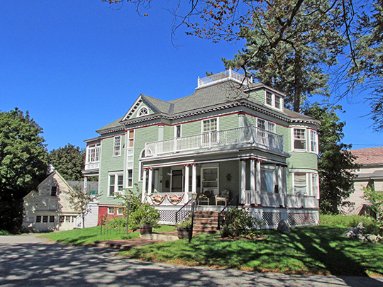 Bradford Peck House, ca. 1893, 506 Main Street, Lewiston, ME, National Register