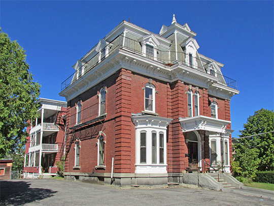 Captain Holland House, ca. 1872, 142 College Street, Lewiston, ME, National Register