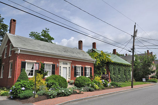 Homes on Lincoln Street, Lincoln Street Historic District, Brunswick, ME, National Register
