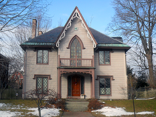 The Gothic House (John J. Brown House), ca. 1845, 387 Spring Street, Portland, ME, National Register