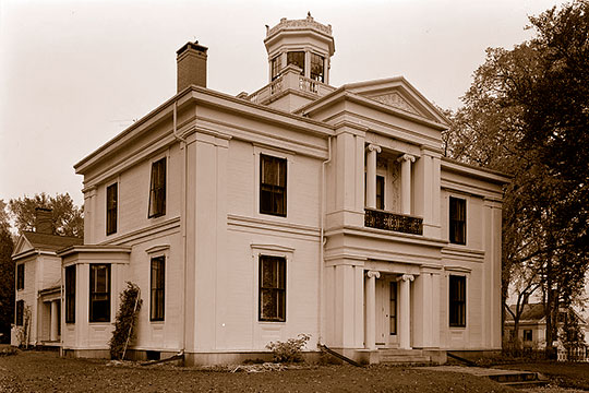 James Patterson White House, ca. 1840, 1 Church Street, Belfast, ME, National Register