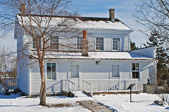 Trombley House, ca. 1836, Veterans Memorial Park, Bay City, MI, National Register