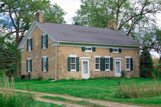 Stow-Hasbrouch House, ca. 1850, 17051 16 Mile Road, Marshall, MI, National Register