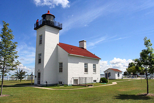 Sand Lighthouse, ca. 1868, 12 Waterplant Road, Escanaba, MI, National Register