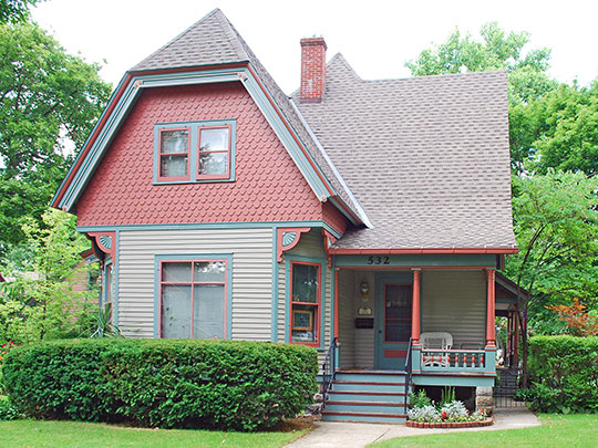 Peter B. Appeldorn House, ca. 1895, 532 Village Street, Kalamazoo, MI, National Register