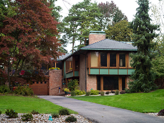 Calvin A. and Alta Koch Campbell House, ca. 1940, 1210 West Park Drive, Midland, MI, National Register