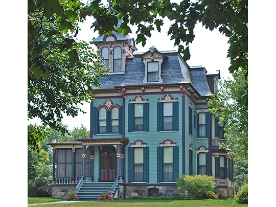 William H. Davenport House, ca. 1873, 300 East Michigan Avenue, Saline, MI, National Register