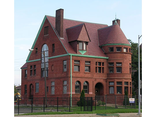 John N. Bagley House, ca. 1889, 2921 East Jefferson Avenue, Detroit, MI, National Register
