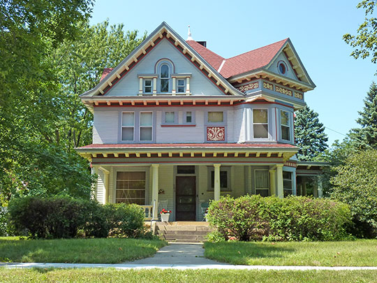 J. R. Brandrup House, ca. 1904, 704 Byron Street, Lincoln Park Residential Historic District, Mankato, MN, National Register