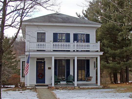 John Daubney House, ca. 1870,  Oak and River Streets, Taylors Falls, MN, National Register