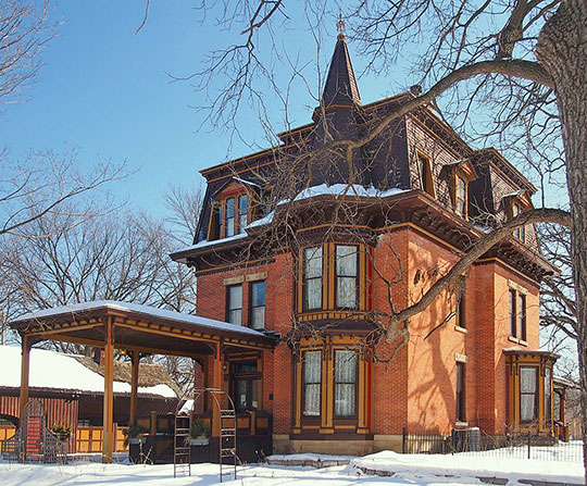Thompson-Fasbender House, ca. 1880, 649 West 4th Street, Hastings, MN, National Register