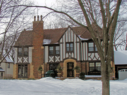 Home on Browndale Avenue in the Country Club Historic District, Edina, MN