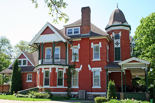 Milo White House, ca. 1883, 122 Burr Oak Avenue, Chatfield, MN, National Register