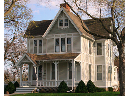 John and Elizabeth Taylor Clinton Cottrell House, ca. 1897, 127 First Avenue, NW, Faribault, MN, National Register
